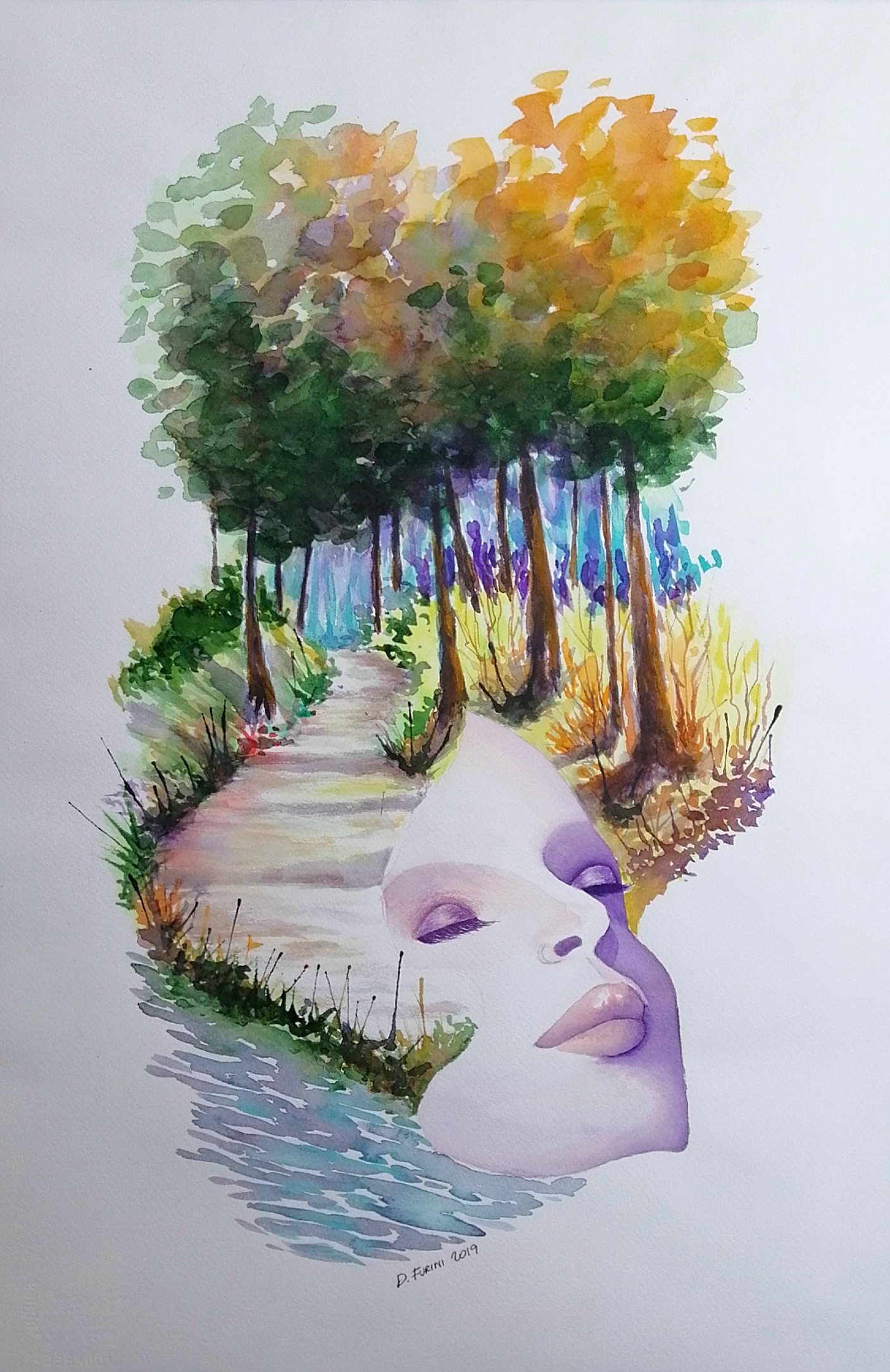 56x38 - watercolor on Arches paper